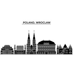 poland wroclaw architecture city skyline vector image
