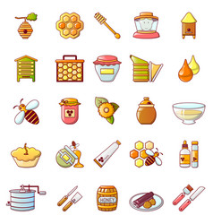 Propolis honey jelly icons set cartoon style vector