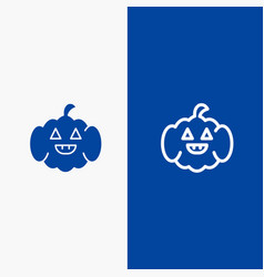 Pumpkin american usa line and glyph solid icon vector
