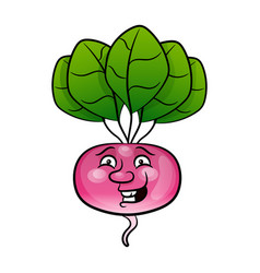 radish flat design icon vector image