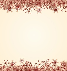 Red Snowflake Frame vector image