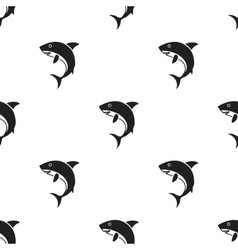Shark icon in black style isolated on white vector image