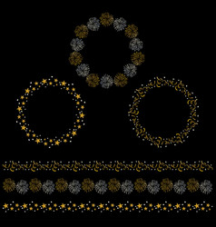 silver and gold celebration circle frames and bord vector image