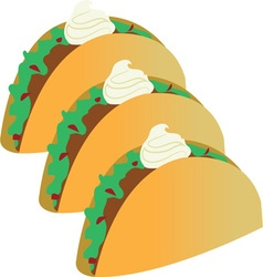 Taco Sour Cream vector