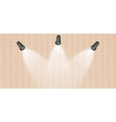 Three lights and wall vector