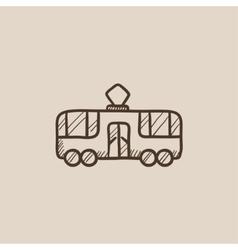 Tram sketch icon vector