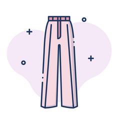 Trouser women linecolor vector
