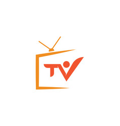 tv monitor icon vector image