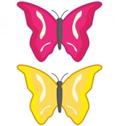 two butterflies vector image