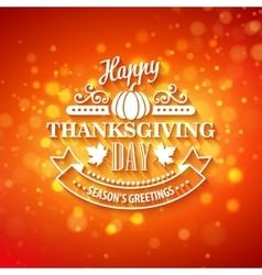 typography design Thanksgiving Blurred and vector image