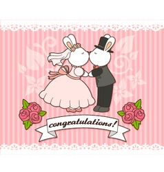wedding bunnies vector image
