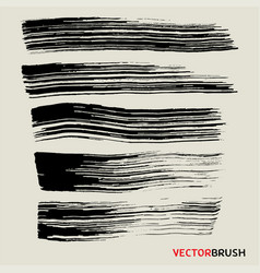 Wide brush texture background collection vector