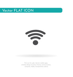 wifi icon for web business finance and vector image