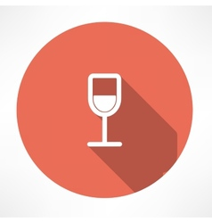 Wine glasses icon vector