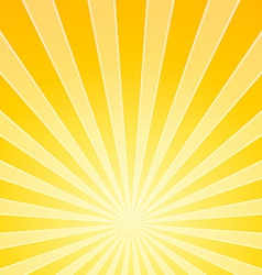 Yellow Bright Light Beams vector image