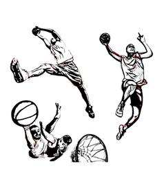 Basketball trio vector