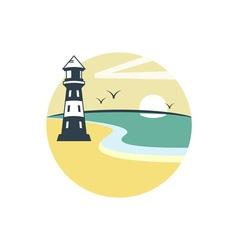 Lighthouse-380x400 vector image vector image