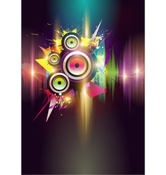 Musical poster vector image vector image