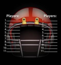 scoreboard with american football helmet vector image