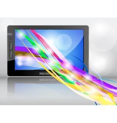 tablet background vector image