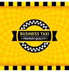Taxi symbol with checkered background - 01 vector image vector image
