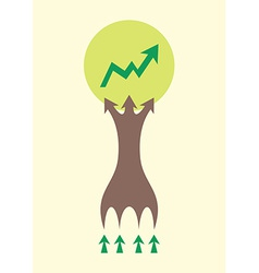 Tree infographic design for office concept of vector image