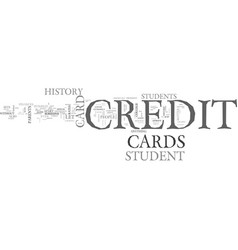 what sets a student credit card apart from other vector image vector image