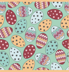 easter eggs 2017 vector image