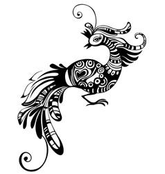 Peacock bird vector