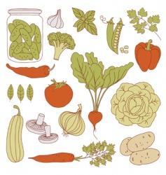 set of health food vector image