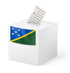 Ballot box with voting paper solomon islands vector