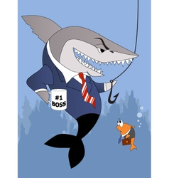 Business shark is a good boss vector image