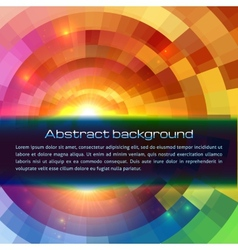 Colorful shining abstract sun background vector image vector image