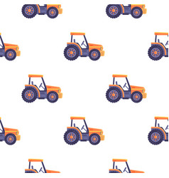 excavator tractor vehicle seamless pattern texture vector image