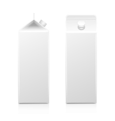 Milk Juice Carton Packaging Package Box White vector image