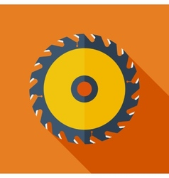 Modern flat design concept icon Saw circula vector image vector image