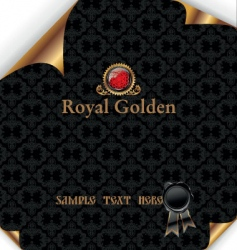 royal background with wax seal vector image