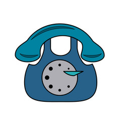 vintage rotary telephone icon image vector image vector image
