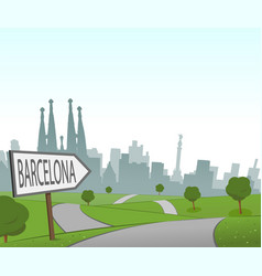 road to barcelona vector image