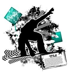 snowboarding grunge vector image