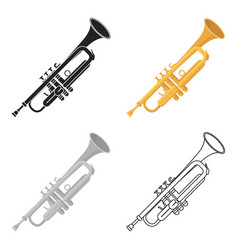 trumpet icon in cartoon style isolated on white vector image vector image
