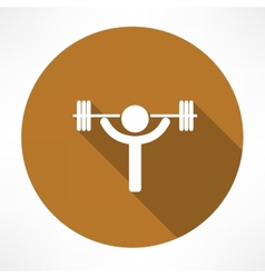 Weightlifter icon vector image vector image