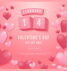 14 february valentines day sale banner vector image