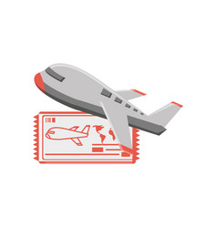 airplane travel with ticket vector image