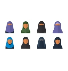 Arabic woman set vector