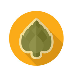 artichoke flat icon vegetable vector image