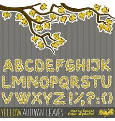 Autmun letters vector