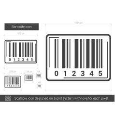 Bar code line icon vector