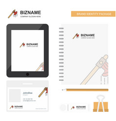 Bloody axe business logo tab app diary pvc vector
