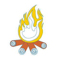 Bonfire icon image vector